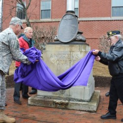 The Rotary Club of Portland Re-Dedicated the Harold T. Andrews Monument, Veterans Day, 2015.