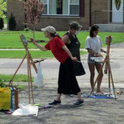 Sidney woman finds success after dropping 30-year career to focus on painting