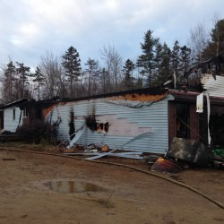 Early morning fire guts home in Lebanon