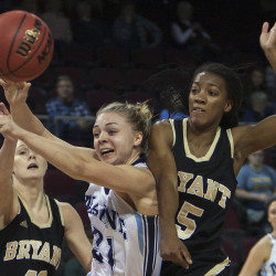UMaine women's hoop coach promises improvement after loss to Bryant
