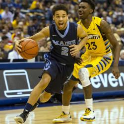 Strong inside game propels URI men's basketball team past Black Bears
