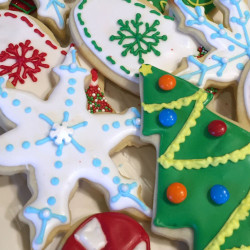 Cut-out Christmas Sugar Cookies.