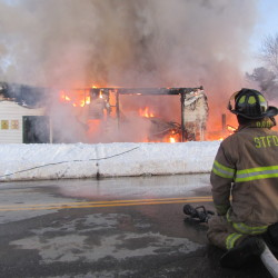Owls Head garage destroyed by fire