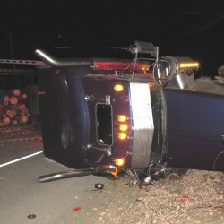 New Sharon man hospitalized after tractor-trailer strikes pickup