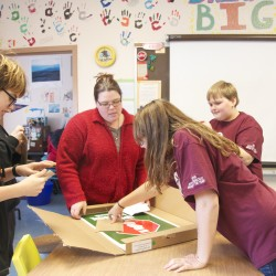 Machias Memorial Students' Off-Season Shopping Spree Stocks Nonprofit Clothes Closet