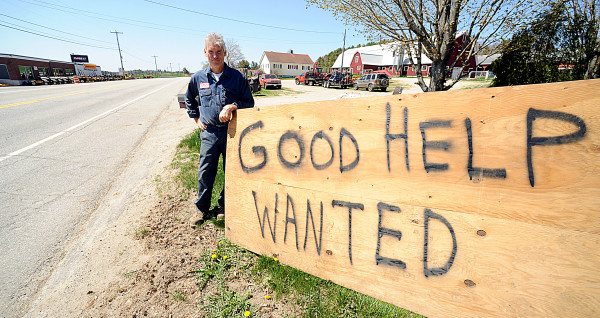 Pete Waterman of Waterman Farms in Sabattus posted a help-wanted sign along Route 126 in front of his family's farm recently because he was looking for a skilled farmhand. He had 14 applicants. Many were unfamiliar with simple farm tasks such as driving a tractor or milking cows.
