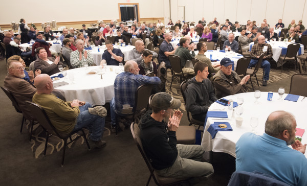 People attend the Maine Rural Water Association's annual meeting in Bangor on Thursday.