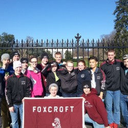 Members of the Foxcroft Academy wrestling team pose for a photo in front of the White House in Washington. The team was in Virginia over the weekend to compete in a wrestling tourney and also spent some time touring the nation's capital Friday and Sunday.