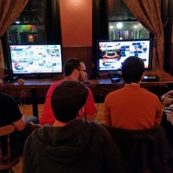 Gamers play against each other at Paddy Murphy's in Bangor on a recent Wednesday night.