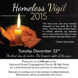 Longest Night Homeless Vigil Planned for December 22nd -  Bangor's Annual Homeless Memorial Day