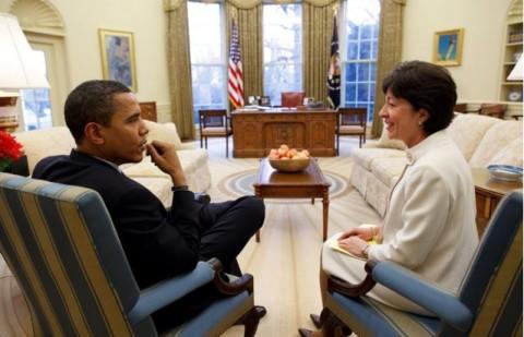 President Obama and U.S. Sen. Susan Collins