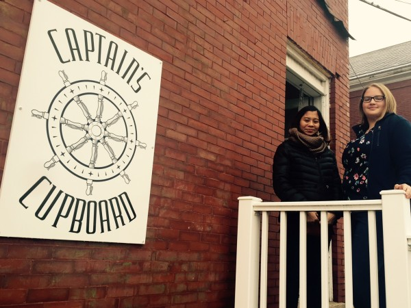 Maisarah Miskoon and Tabatha Copeland, past and current directors of Southern Maine Community College's The Captain's Cupboard, a student-led food pantry.