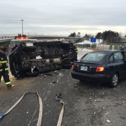 Microburst causes rash of crashes on I-295