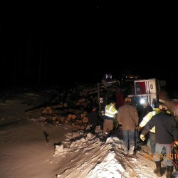 Man injured in Millinocket truck rollover