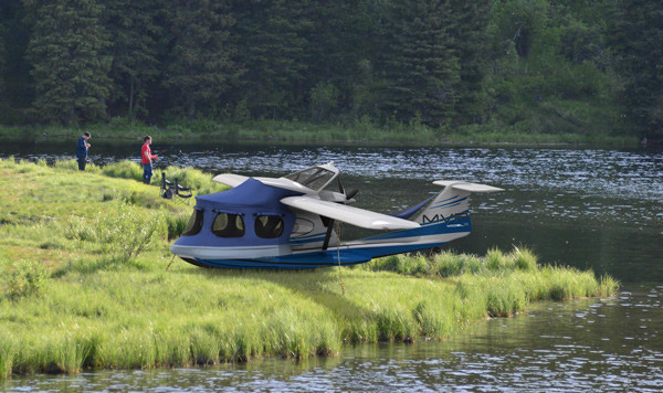 The Minnesota-based aircraft company MVP Aero announced it plans to build and test at Brunswick Landing a prototype of an amphibious aircraft it designed using composite materials.