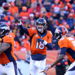 Manning outduels Pats' Brady, leads Broncos to Super Bowl
