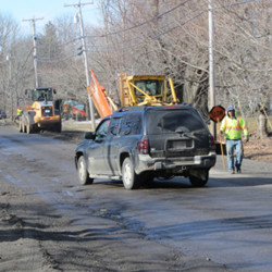 Construction crews work on road that will lead to Thomaston Walmart