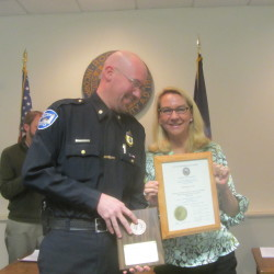 Rockland honors officer retiring after 33 years on the force