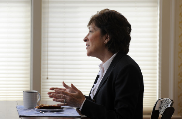 Sen. Susan Collins, 63, discusses the priorities of the U.S. Senate Special Committee on Aging recently at her home in Bangor.