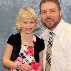 Emily and Jason Greenlaw at the 2015 Father Daughter Dance