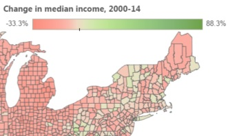 All But 2 Maine Counties Have Seen Average Incomes Drop Since 2000