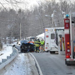 Crash, investigation reduce traffic on Route 121 to one lane