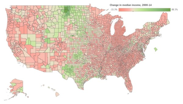 All but 2 Maine counties have seen average incomes drop since 2000 ...