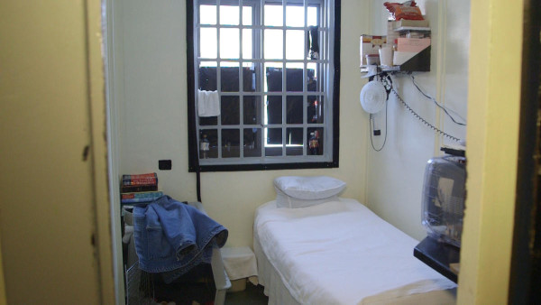 A cell at Windham Correctional Center.