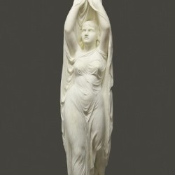 "Carrera marble sculpture by Chauncey Bradley Ives (NY/CT, 1810-1894), ""Undine Rising from the Water"", that sold for $105,300"