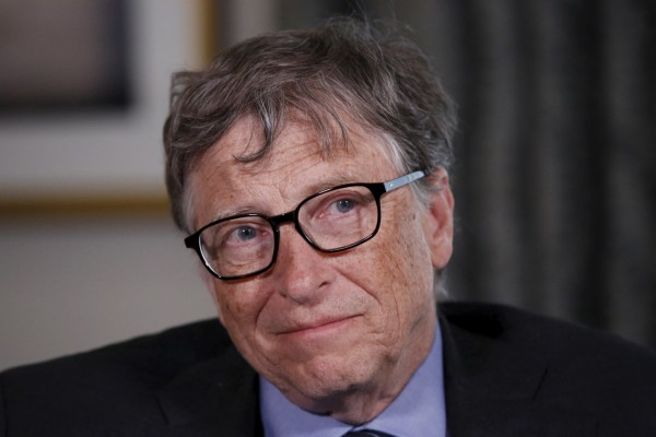 Microsoft co-founder Bill Gates listens to a question during an interview in New York, Feb. 22, 2016.