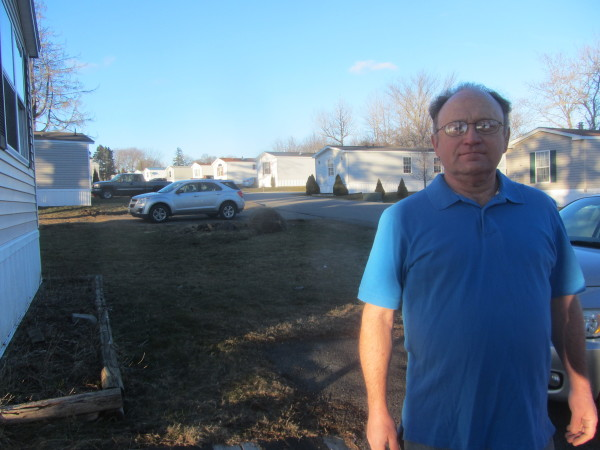 George Krise, president of the cooperative board of Sunset Terrace Mobile Home Park, poses for a photo on Monday in the mobile home park in Rockland. The residents of the park formed a cooperative that purchased the 76-lot park.
