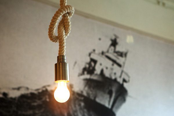 Dangling rope lights and a large print of a ship grace Roustabout, a restaurant on Washington Avenue in Portland. Roustabout is one of the city's many eateries setting itself apart not only by its cuisine but by its design as well.