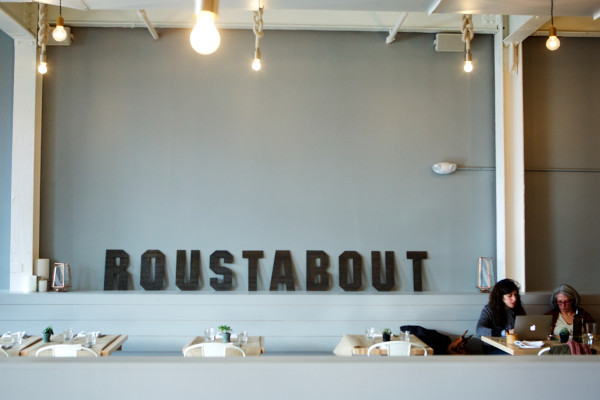 An open concept of space and light dominates Roustabout, a restaurant on Washington Avenue in Portland. Roustabout is one of the city's many eateries setting itself apart not only by its cuisine but by its design as well.