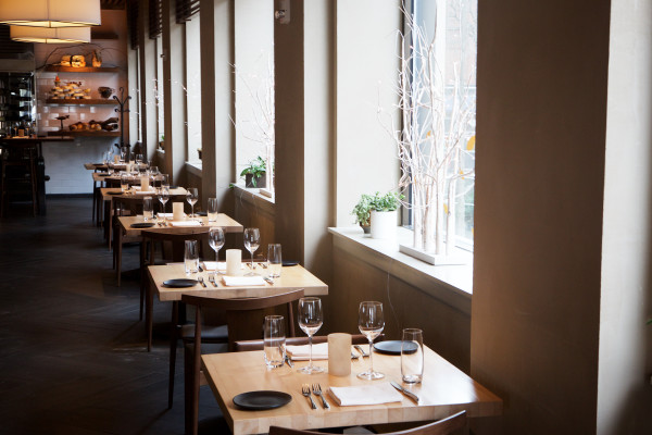 Generous natural light graces the tables at UNION, the Press Hotel's restaurant in Portland. UNION is one of the city's many eateries setting itself apart not only by its cuisine but by its design as well.