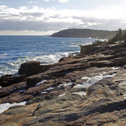 Bicyclist falls more than 20 feet off cliff in Acadia