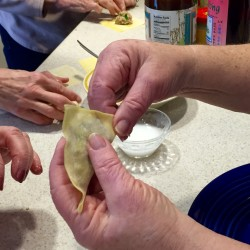 "Sheri Fistal teaches students to make lobster and crab-filled wonton soup during a class from the ""From Scratch: Your Maine Kitchen"" series on Saturday at the University of Maine Cooperative Extension's Cumberland County campus in Falmouth."