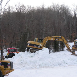 Some 10,000 yards of snow were made nearby and transported to the Nordic Heritage Center to ensure there will be enough snow for the Biathlon World Cup, being held Feb. 11-14.