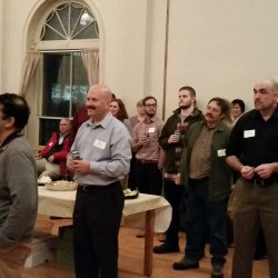 Startups and entrepreneurs gather each month at PubHub to learn business strategies and network. First Wednesday of each month at Mechanics' Hall.