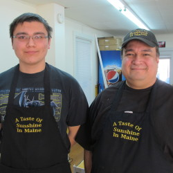 Steve Santiago, right, and his son, Steve, will open A Taste of Sunshine in Maine in Brewer this Saturday.