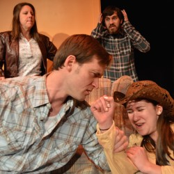 LtoR Lorraine (Katie Glessner Perkins), Jake (Nathan Roach), Frankie (Tyler Johnstone) and Sally (Grace Underhill)