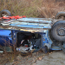 Seat belt likely saved Brunswick woman in rollover accident