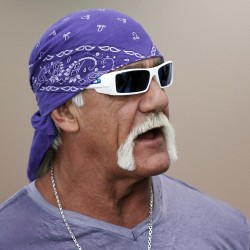 "Wrestler Hulk Hogan attends the Electronic Entertainment Expo to promote Majesco Entertainment's ""Hulk Hogan's Main Event"" video game in Los Angeles, in this file photo taken June 7, 2011. Hogan is asking a Florida jury to slam the gossip website Gawker for publishing a secretly recorded sex tape of the former professional wrestler as an unusual trial weighing a celebrity's privacy rights gets under way Monday."