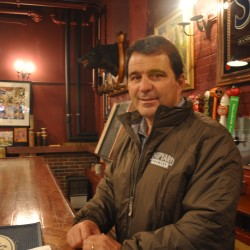 Fred Forsley, president and co-owner of Shipyard Brewing Co., stands in the brewery's tasting room in a 2013 photo.