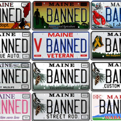 In Maine, vanity license plates are 'WIKD GD'