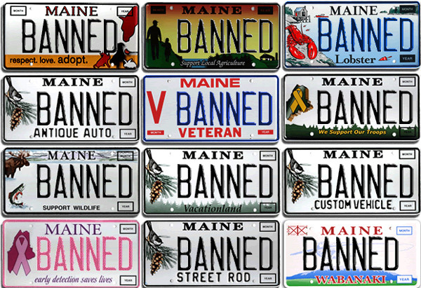 Law Change Could Make Maine Vanity Plates More Risque
