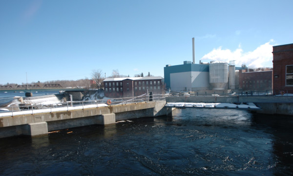 Madison Paper Industries as seen in this 2008 file photo. Madison officials announced that papermaking would cease at the facility in May and 214 workers would be laid off.
