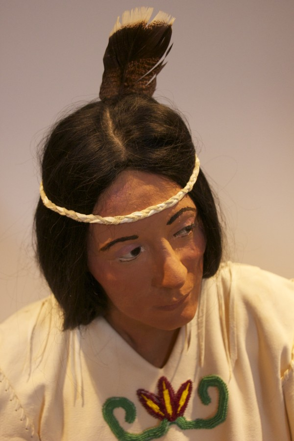 Roberta Richter was the model for this mannequin, depicting Passamaquoddy life in the 1600s.