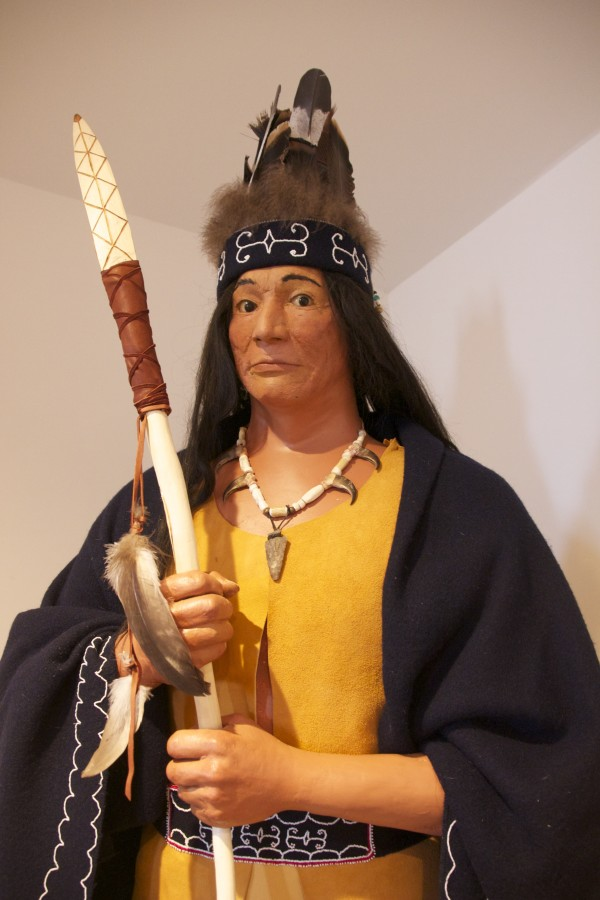 Frederick J. Moore II was the model for this mannequin, illustrating Passamaquoddy life in the 1500s.