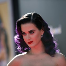 "Cast member and singer Katy Perry poses at the premiere of ""Katy Perry: Part of Me"" in Hollywood, California in this June 26, 2012 file photo."