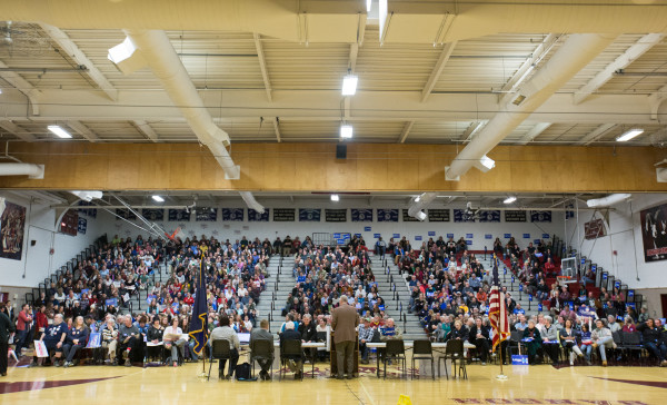 Over 1,000 Maine Democrats caucus on Sunday at Bangor High School.